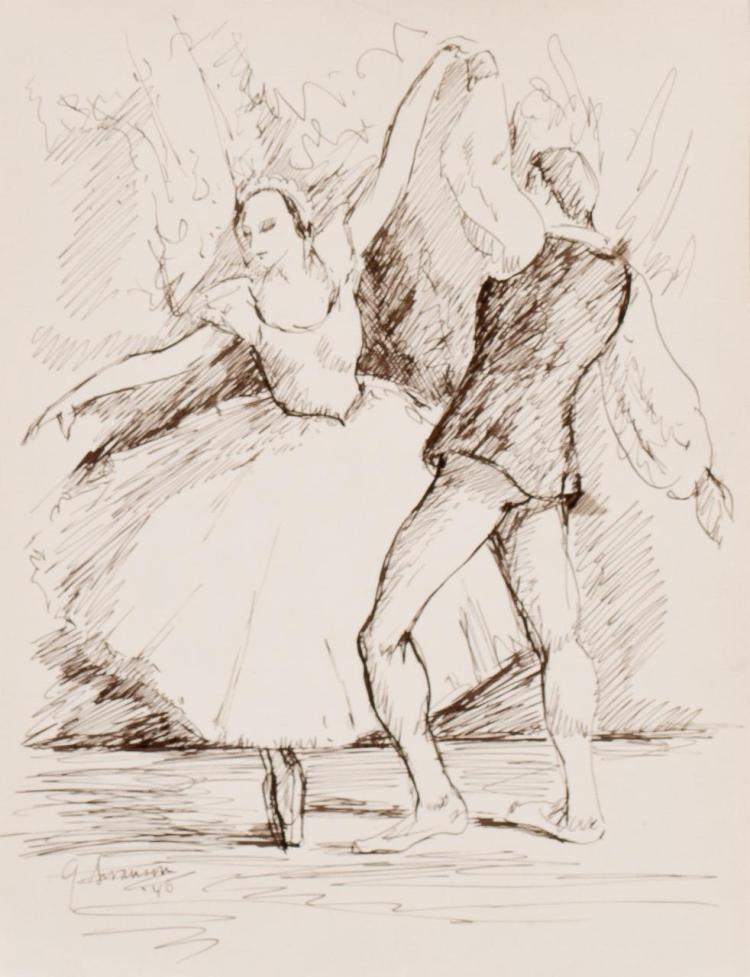 GEORGE ALAN SWANSON, American (1908-1968), Les Sylphides, signed