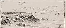 ALFRED THOMPSON BRICHER, American (1837-1908), (Group of Four Ink Drawings) Cape Arundel Maine, 1882, ink on paper, (a) 3 1/2 x 7 1/...
