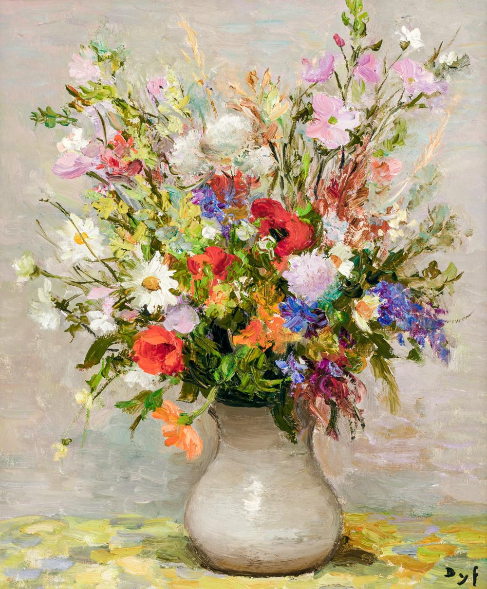 """MARCEL DYF, French (1899-1985), """"Fleurs des Champs"""", oil on canvas, signed lower right """"Dyf"""", 21 3/4 x 18 1/8 inches"""