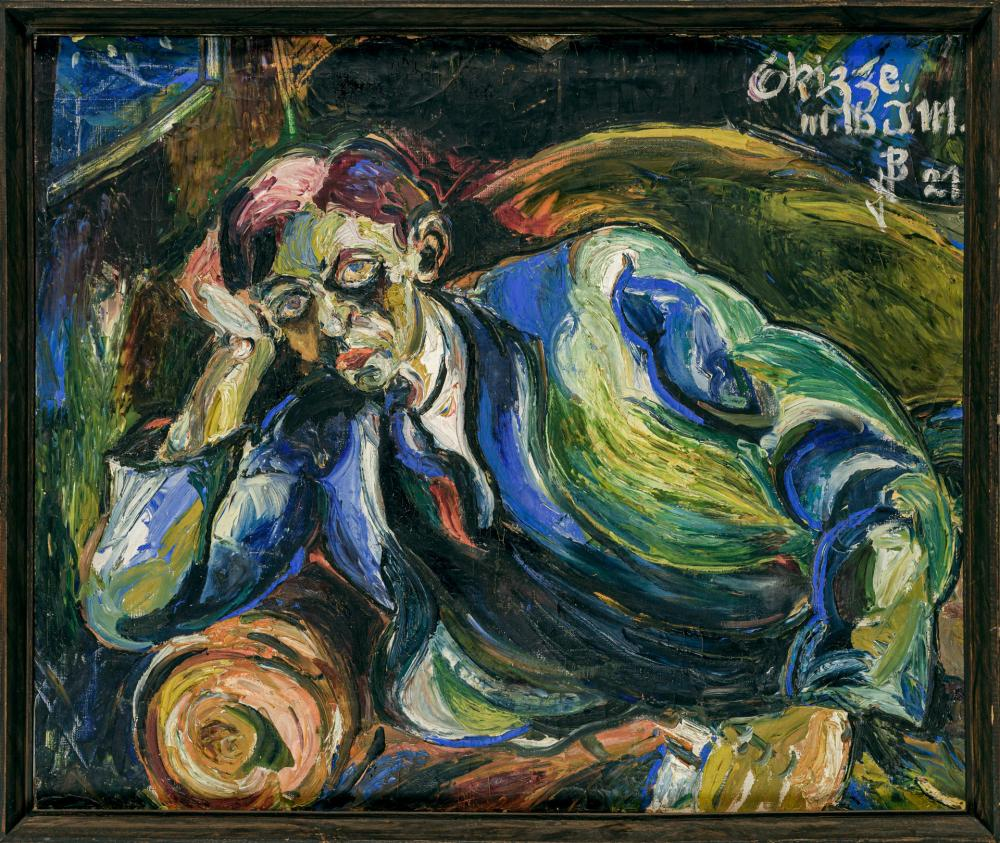 """JOSEF ALBERT BENKERT, German (1900-1960), Self Portrait, oil on canvas, initialed, dated and inscribed illegibly upper right """"JAB '2..."""