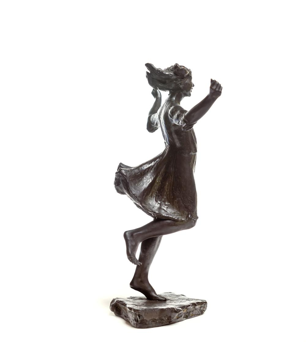 "ABASTENIA ST. LEGER EBERLE, American (1878-1942), ""Girl Skipping Rope"", bronze, signed and dated ""A St. L Eberle 09,"" stamped with f..."