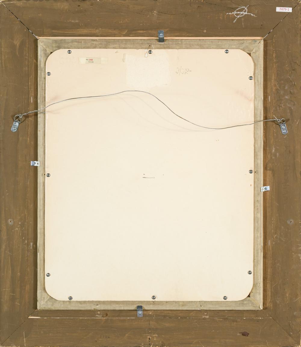 """JOHN FERGUSON WEIR, American (1841-1926), Niagara Falls, oil on canvas, signed lower left """"J.F. Weir"""", 30 x 25 inches"""