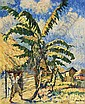 GEORGE HAUSDORF American (1888-1959) Scene in the Dominican Republic oil on canvas, signed lower right., George Hausdorf, Click for value