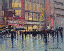 JOHN C. TERELAK, American (b. 1942), Diamond District, oil on canvas, signed and dated