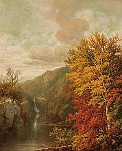 WILLIAM MASON BROWN, American (1828-1898), Autumn, oil on board, initialed lower right., 14 x 12 inches