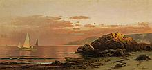 ALFRED THOMPSON BRICHER, American (1837-1908), Evening Glow, oil on canvas, signed lower right., 15 x 32 inches