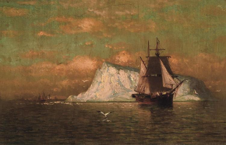 WILLIAM BRADFORD, American (1823-1892), Ship Off the Coast of Labrador, oil on canvas, signed lower right., 9 x 14 inches