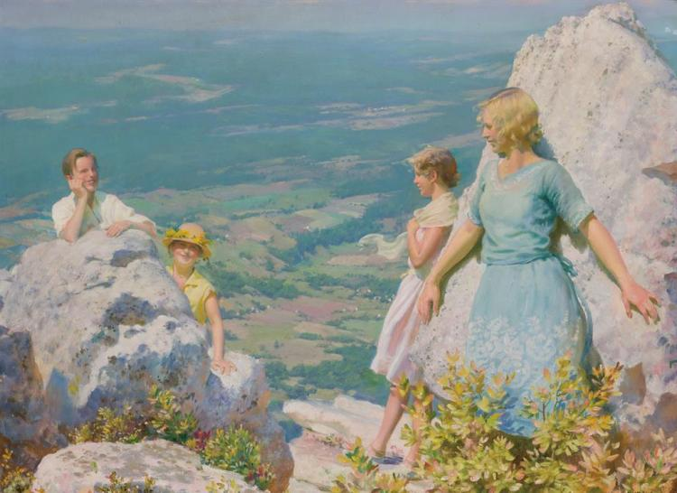 CHARLES COURTNEY CURRAN, American (1861-1942),