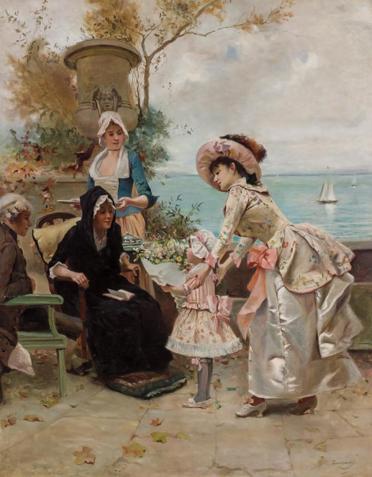 EMILE AUGUSTE PINCHART, French (1842-1924),