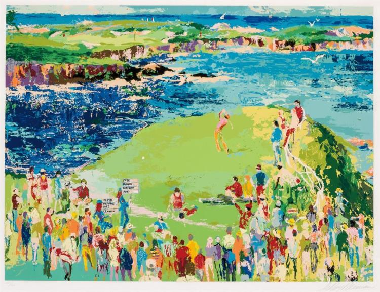 LEROY NEIMAN, American (1921-2012), 16th at Cypress, serigraph, signed lower right and numbered