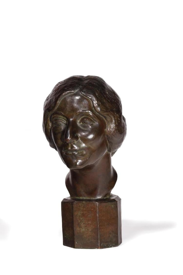 BRENDA PUTNAM, American (1890-1975), Self Portrait, bronze, signed and inscribed
