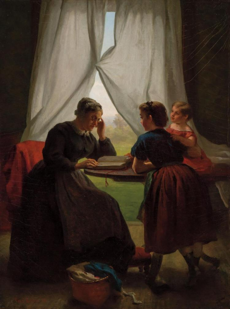 GEORGE COCHRANE LAMBDIN, American (1830-1896),