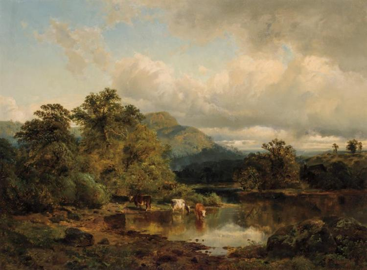 EDMUND DARCH LEWIS, American (1832-1928), Landscape Near the Susquehanna, oil on canvas, signed and dated
