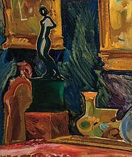GUSTAV GWOZDECKI, Polish (1880-1935), Still Life, oil on canvas, signed lower left., 30 x 25