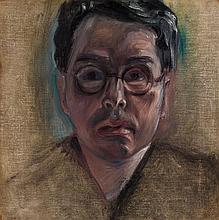 JEAN CHARLOT, Mexican (1898-1979), Self Portrait, oil on canvas, incised lower right, signed titled and dated 1930 on reverse., 15 x...