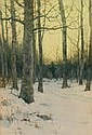 CHARLES WARREN EATON, American (1857-1937), Early Morning, Winter, watercolor, signed and dated 1889., 19 1/4 x 13 1/4 (sight)