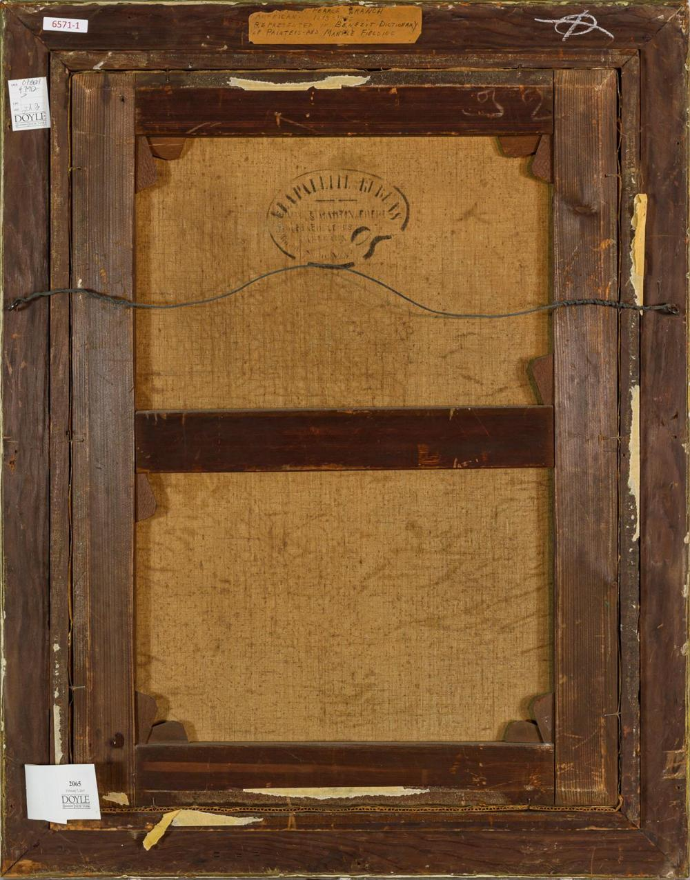 "CHRISTOPHER PEARSE CRANCH, American (1813-1892), Portius Villa, ca. 1847-1850, oil on canvas, signed lower left ""C.P. Cranch"", 30 x..."