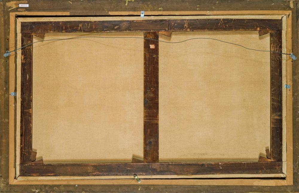 """ALBERT DE BREANSKI SR., British (1852-1928), Heading Home, oil on canvas, signed lower right """"Albert de Breanski"""", 30 x 50 inches"""