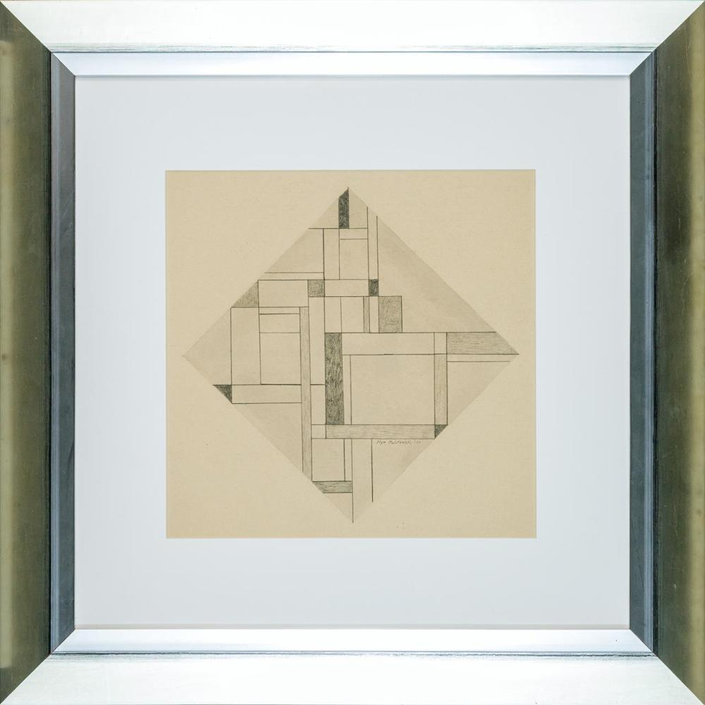 """ILYA BOLOTOWSKY, American/Russian (1907-1981), Untitled, pencil and wash on paper, signed and numbered lower right """"Ilya Bolotowsky..."""