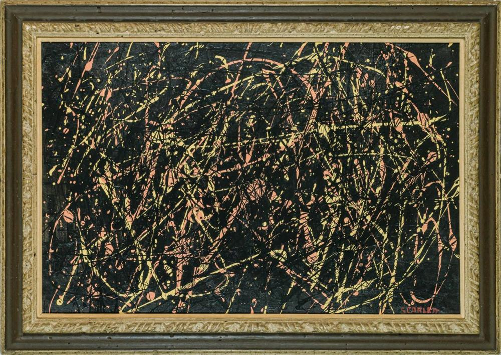 "ROLPH SCARLETT, American (1889-1984), Untitled, oil on canvas, signed lower right ""Scarlett"", 23 1/2 x 36 inches"
