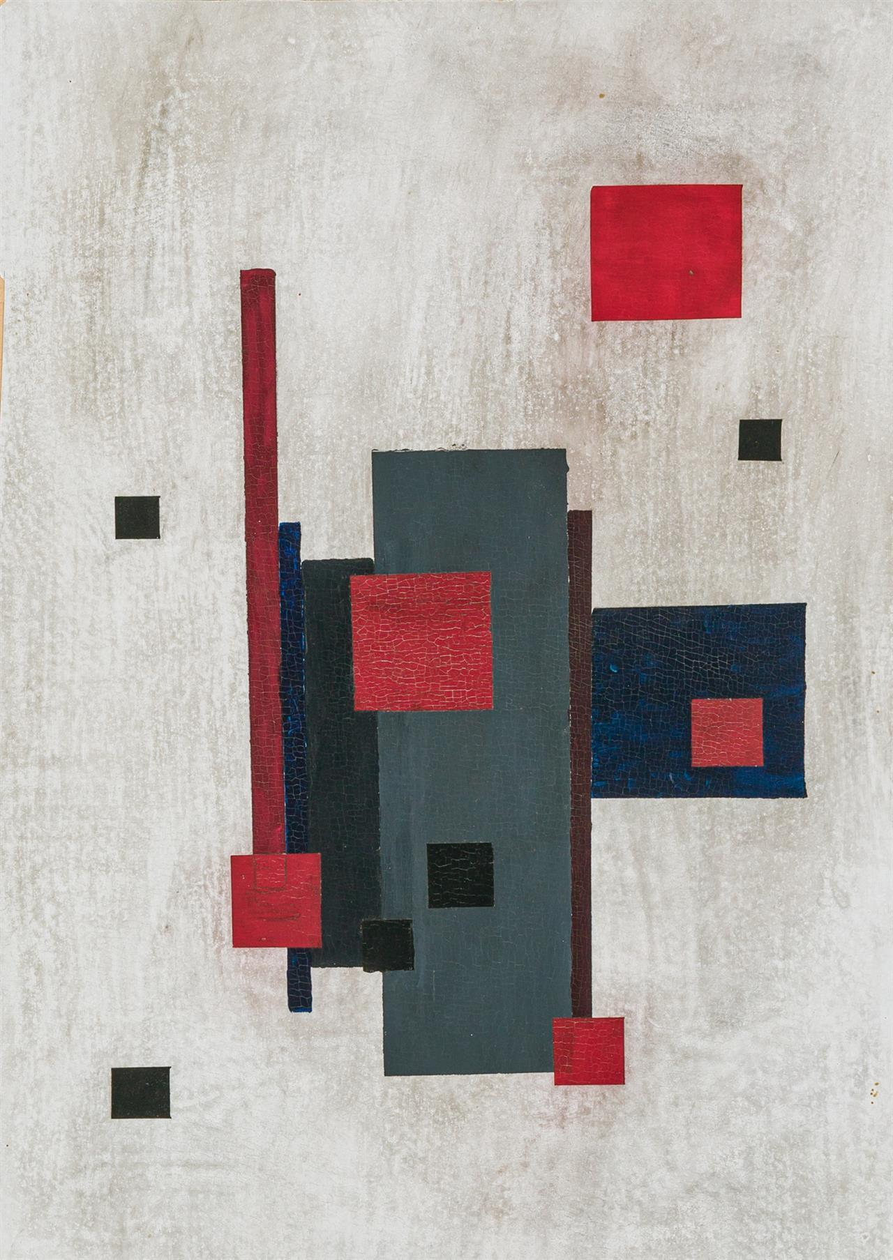 NIKOLAY SUETIN (Attributed), Russian (1897-1945), Abstract, oil on card, unsigned, 17 1/4 x 12 1/4 inches (sheet)