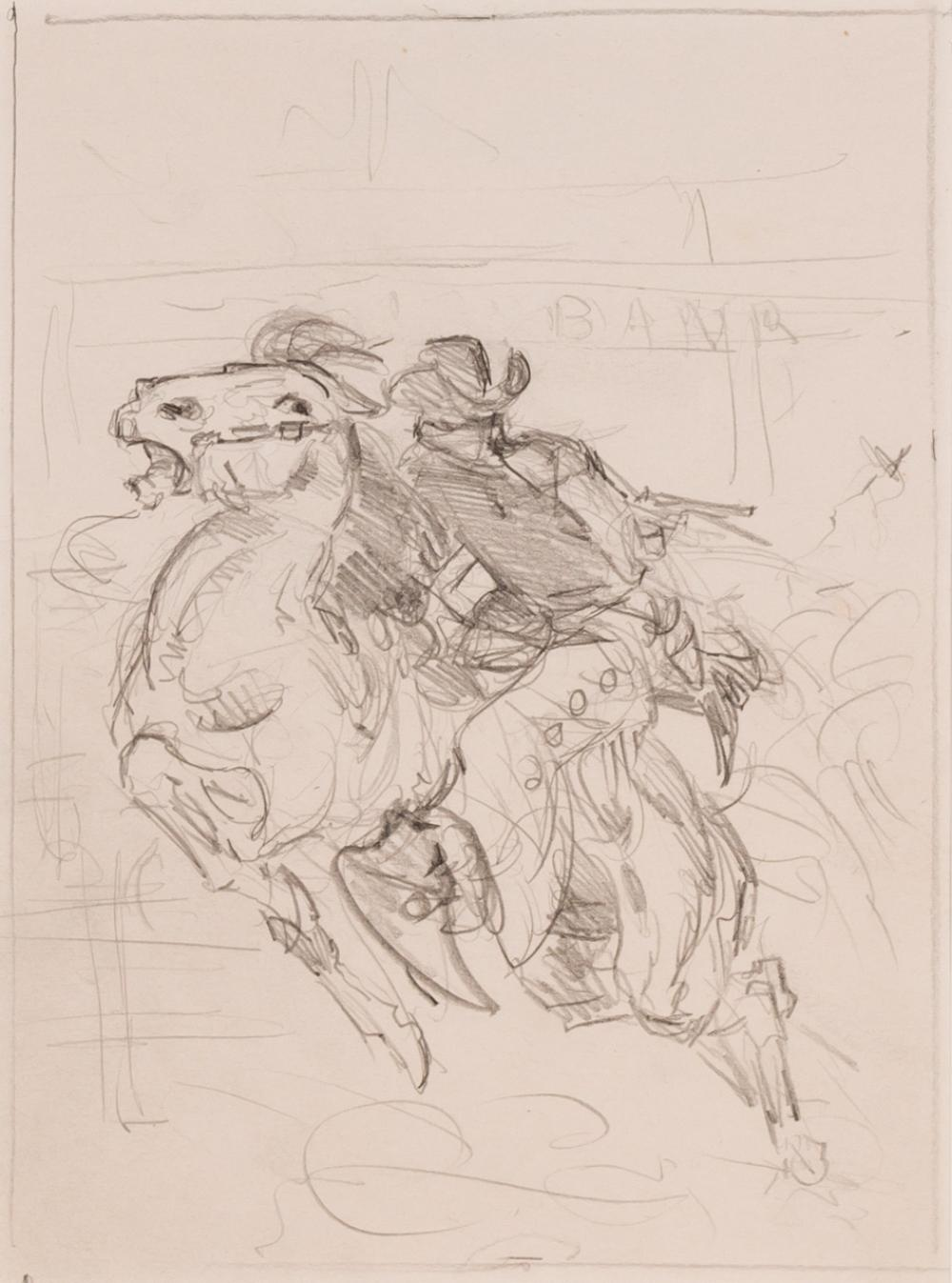 """OLAF WIEGHORST, American (1899-1988), """"Encounter with Grizzly"""" """"The Gallop"""" """"Roping a Steer"""" """"Wild Horses in a Corral"""" """"On the Trail..."""