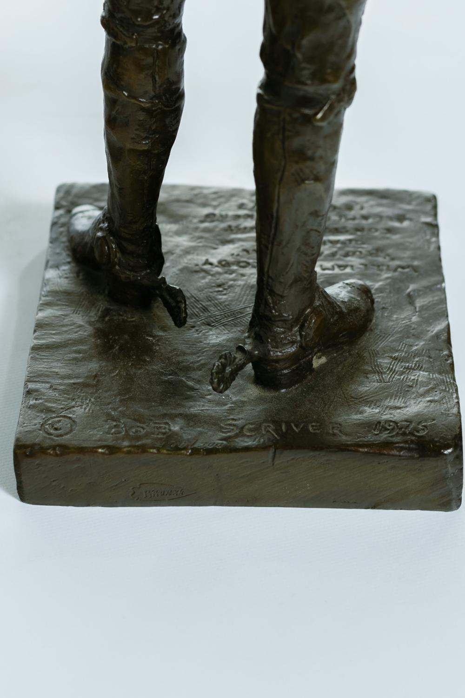 "BOB SCRIVER, American (1914-1999), ""Buffalo Bill"", bronze, signed, dated and inscribed on the base ""Bob Scriver 1975, William F. Cod..."