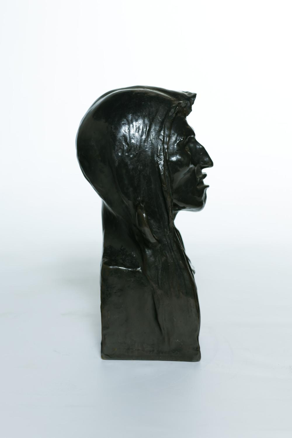"FREDERICK REMINGTON, American (1861-1909), ""The Savage"", bronze, signed and dated ""Frederic Remington 1908,"" with foundry mark ""Roma..."