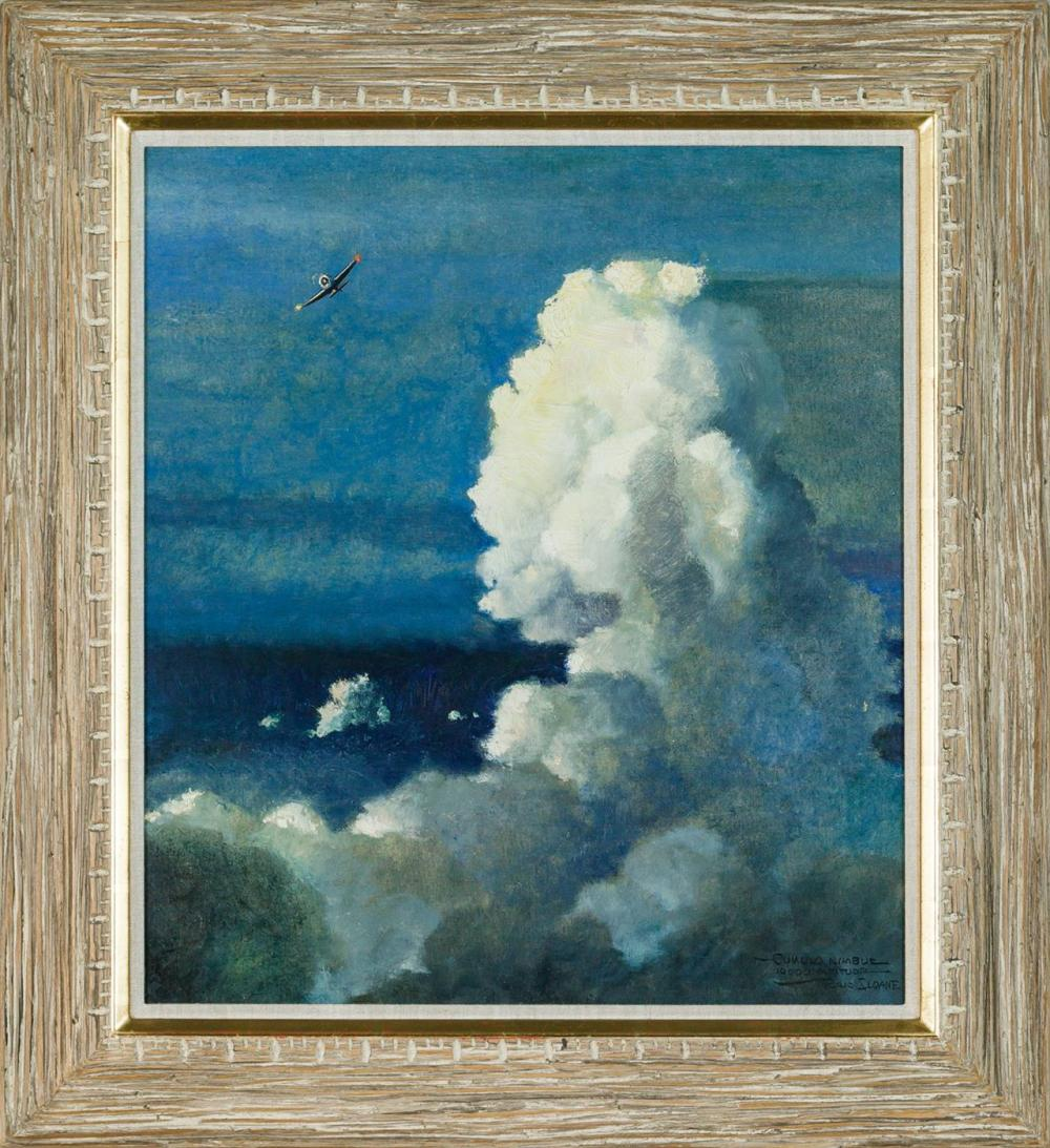 "ERIC SLOANE, American (1905-1985), ""Cumulo Nimbus 10,000 Altitude"", oil on canvasboard, signed and titled lower right ""Eric Sloane,""..."