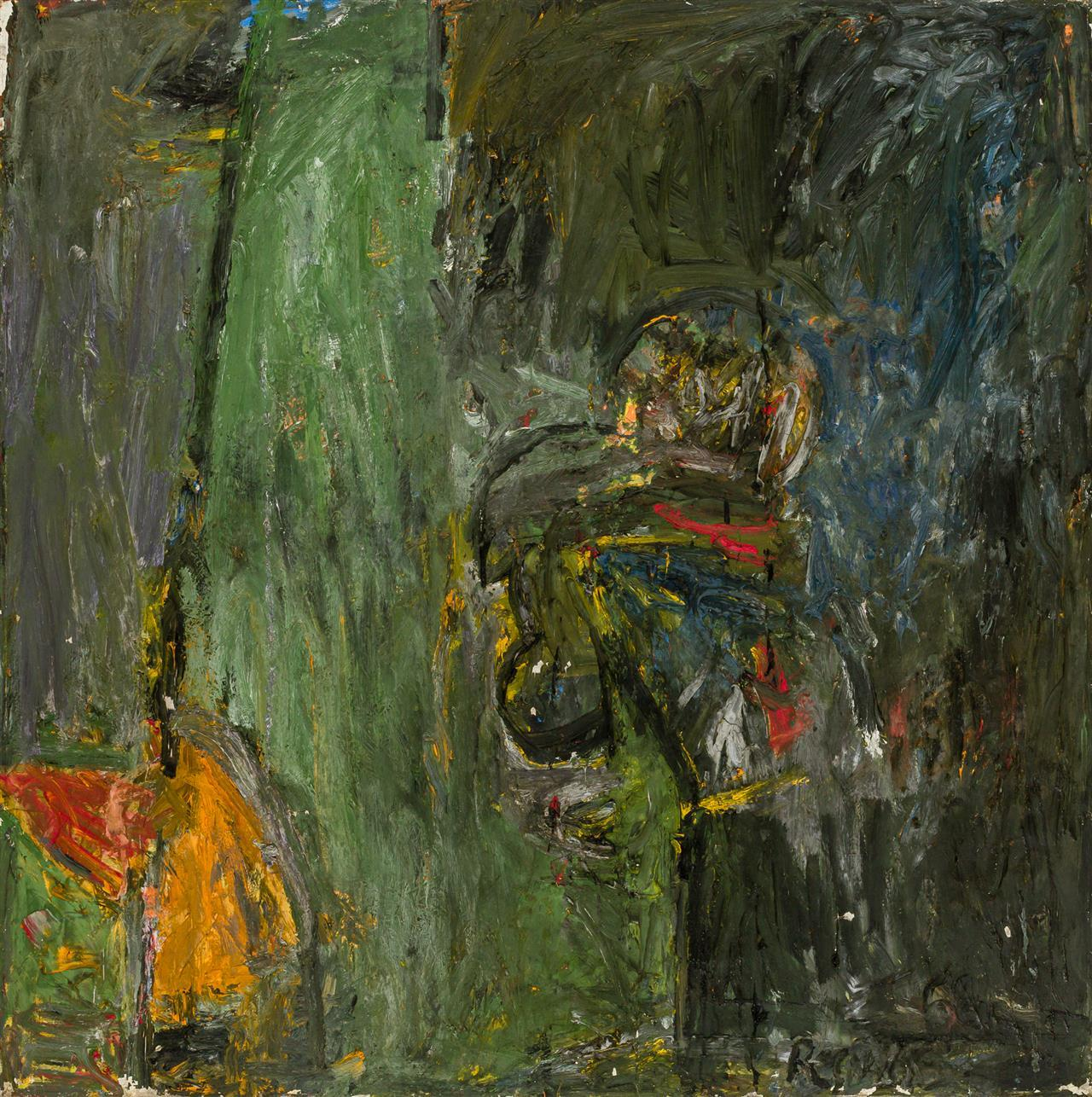 """MILTON RESNICK, (American, 1917-2004), """"Apparatus"""", oil on canvas, signed lower right """"Resnick,"""" signed, dated and titled on the str..."""