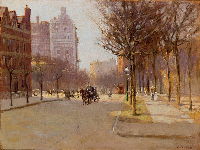 PAUL CORNOYER, American (1864-1923), A Spring Day, New York, oil on canvas, signed lower right., 18 x 24