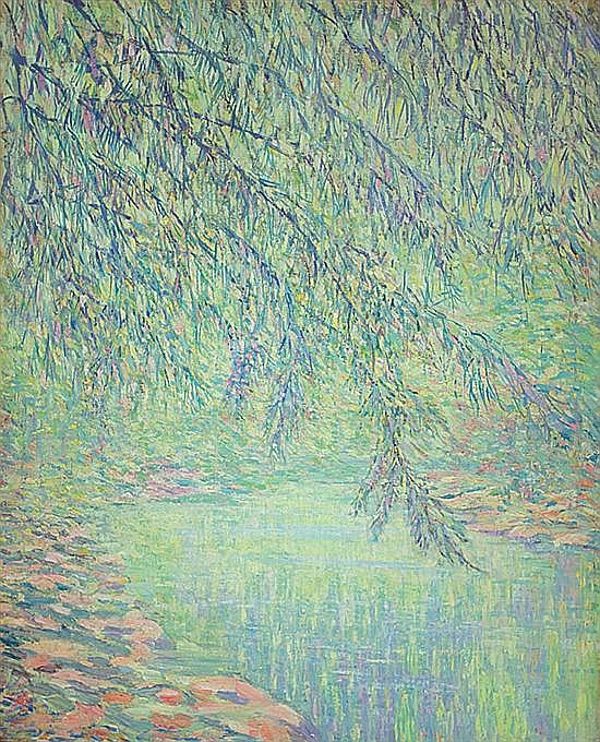 DANIEL PUTNAM BRINLEY American (1879-1963) Overhanging Tree oil on canvas, unsigned.