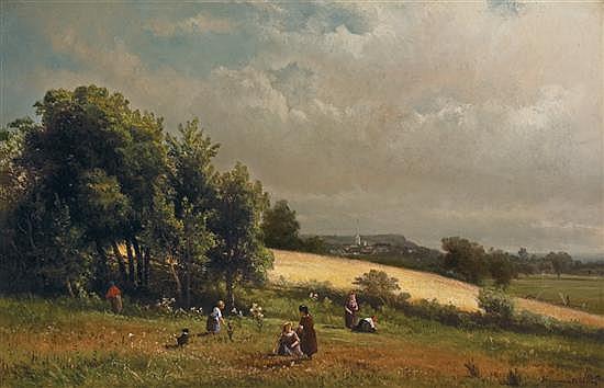HENDRIK DIRK KRUSEMAN VAN ELTEN Dutch/American (1829-1904) Summer Afternoon oil on canvas, signed lower right.