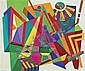 ROLPH SCARLETT, American (1889-1984), Abstraction, oil on canvas, signed lower left., 42 x 50, Rolph Scarlett, Click for value