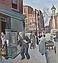 DANIEL CELENTANO, American (1902-1980), New York Street Scene, oil on board, signed lower left and dated 38., 7 3/4 x 8, Daniel Ralph Celentano, Click for value