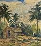 GEORGE HAUSDORF, American (1888-1959), Tropical Landscape, Dominican Republic, oil on masonite, signed lower right., 18 x 16, George Hausdorf, Click for value