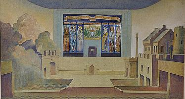 John Milne Purvis (1885 - 1961) The Pageant of