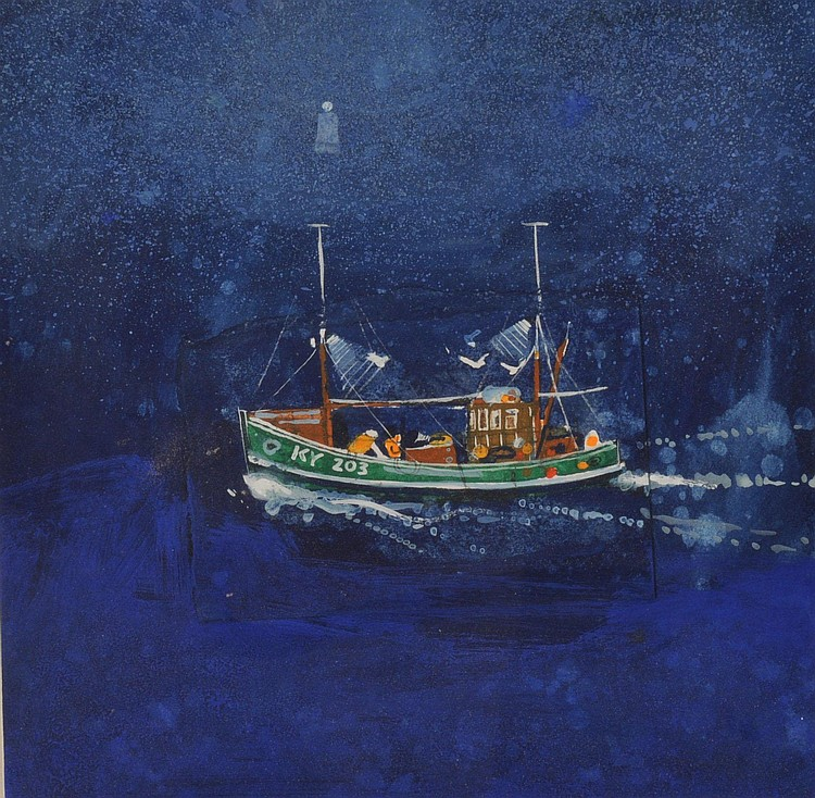 George Birrell ARR Sea Shanty, circa 1989 Gouache,
