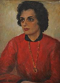 Evelyne Oughtred Buchanan (1883-1978) Annie Oil on