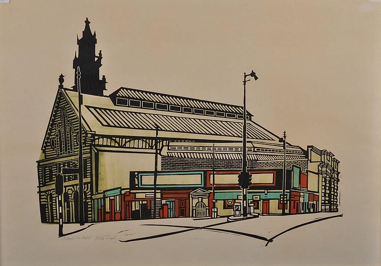 Willie Rodger ARSA (1930-) Glasgow Fish Market