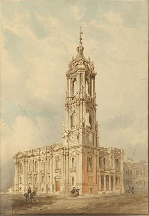 David Bryce RSA (1803-1876) Architectural drawing