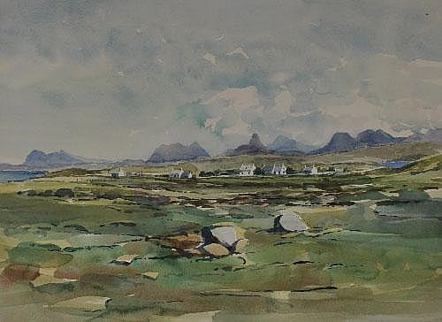 John Mathieson (fl.1956) Achnahaird Watercolour,