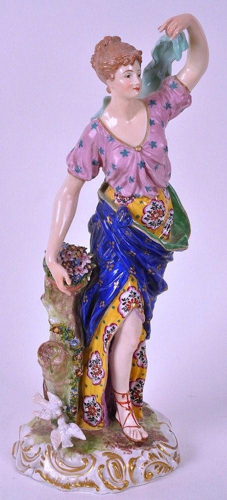 19th Century Derby porcelain Allegorical figure,