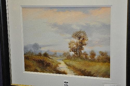 Leslie Cole (1910-1976) River Scene Oil on board,