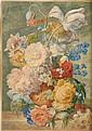Jan Van Huysum (1682-1749) Flowers in a terracotta, Jan Van Huysum, Click for value