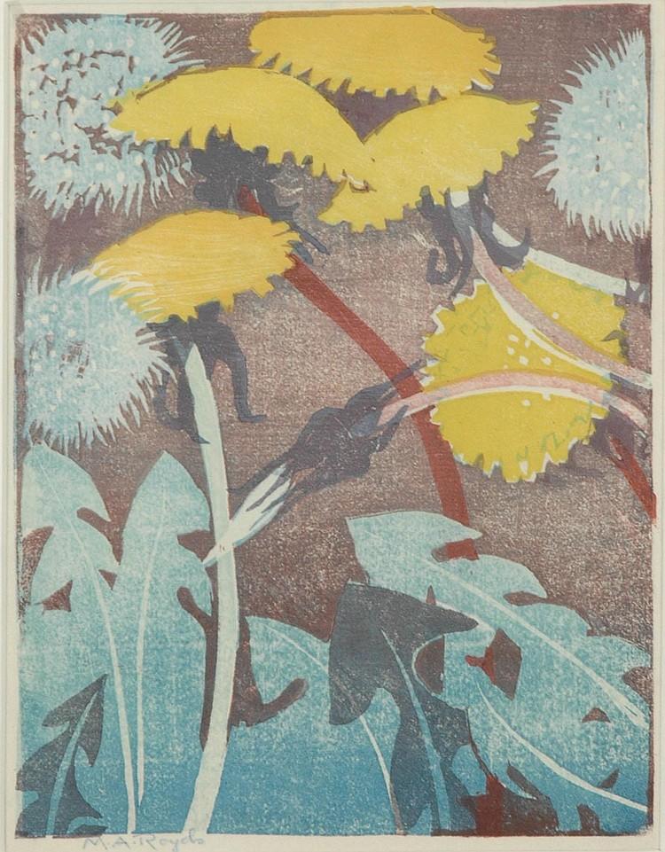 Mabel Royds (1874-1941) Dandelions Signed