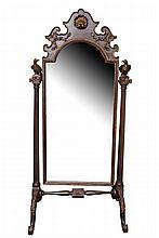 Gilt-wood Cheval Mirror