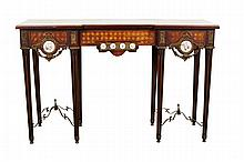 Louis XVI Style Marquetry Console Table