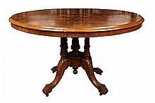 Victorian Walnut Loo Table c. 1880