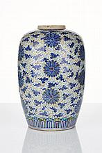 Chinese Porcelain Jar Qing Dynasty, 19th Century